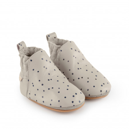 ILAN DOT | Pale Grey Leather