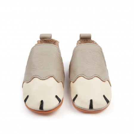 PAWS   Pale Grey Leather