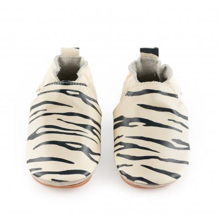 SINKI | Zebra | Cream Leather