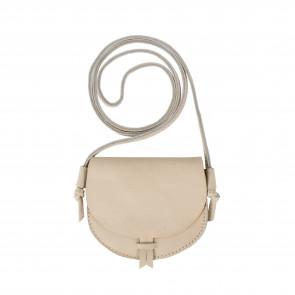 HICKY PURSE | Cream Leather