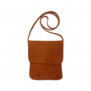 LEO SHOULDERBAG | Camel Leather