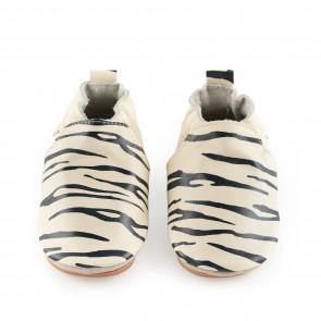 SINKI   Zebra   Cream Leather